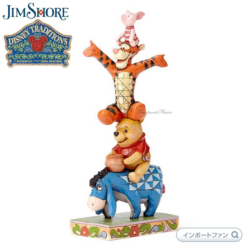 ジムショア イーヨー プー ティガー ピグレット友情によって建てられたディズニーの伝統 くまのプーさん 4055413 Eeyore Pooh Tigger Piglet Disney Traditions Built by Friendship JimShore 【ポイント最大43倍!お買物マラソン】
