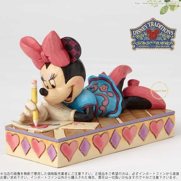 ジムショア XOXOミニー・ミニー・ラブ・パーソナリティ・ポーズ・フィギュア ディズニー 4055438 XOXO Minnie-Minnie Love Personality Pose Figurine JimShore □