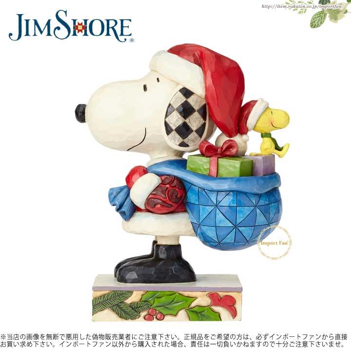 【マラソン限定2%オフクーポン】ジムショア スヌーピー サンタ スヌーピーとウッドストック フィギュア クリスマス 4057672 Here Comes Snoopy Claus Santa Snoopy and Woodstock Figurine JimShore □