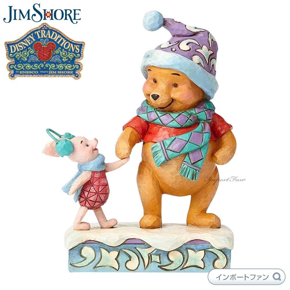 ジムショア くまのプーさんとピグレット ディズニー 4057939 Winter Pooh and Piglet JimShore□