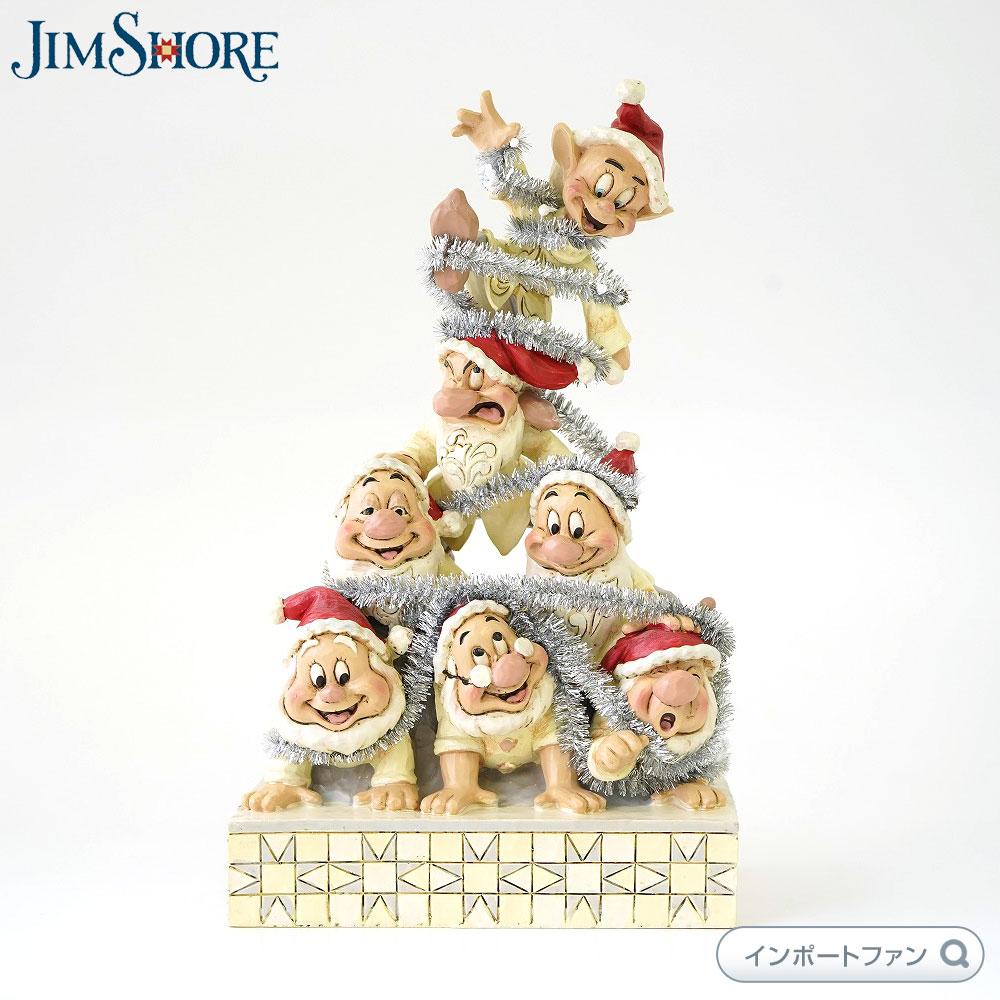 【マラソン限定2%オフクーポン】ジムショア 七人の小人 眠れる森の美女 白雪姫 クリスマス ディズニー 6000942 White Woodland Seven Dwarfs JimShore □