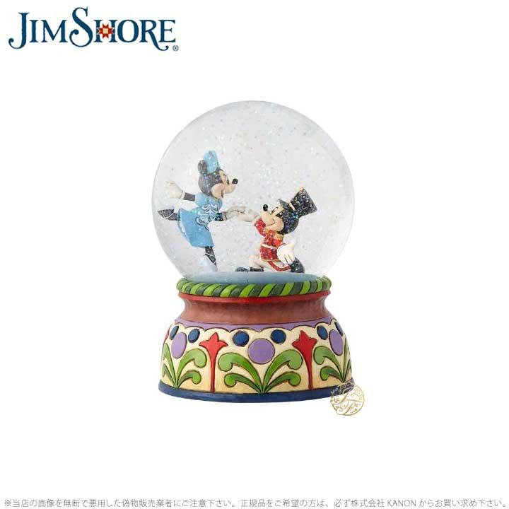 ジムショア ミッキーとミニー くるみ割りミュージカ ルウォーターボール スノードーム ディズニー 6000944 Nutcracker Musical Waterball JimShore□