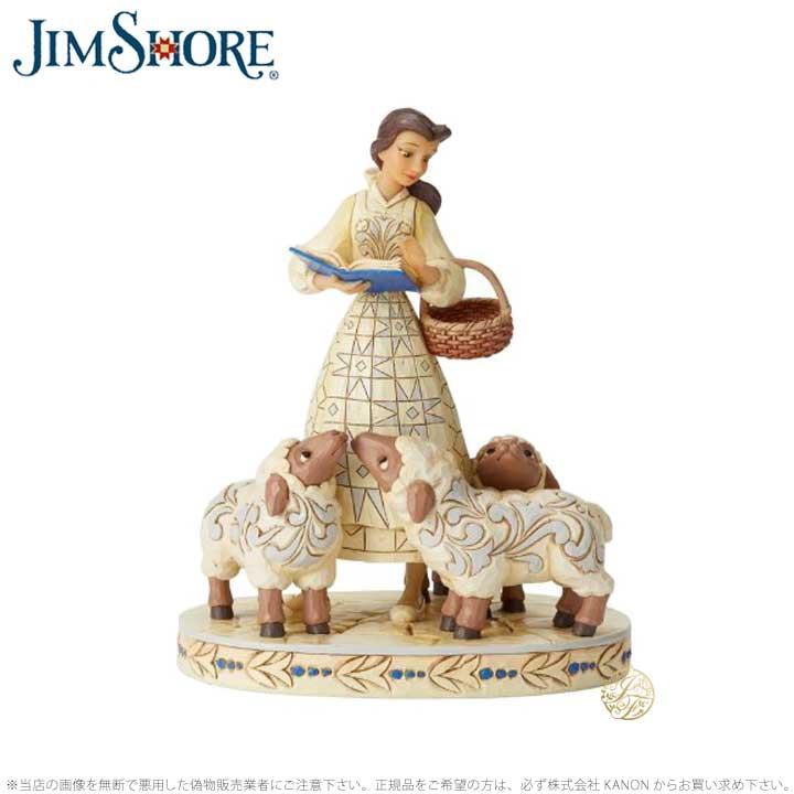 ジムショア ベルホワイトと羊 美女と野獣 ディズニー 6002338 Belle White Woodland JimShore □
