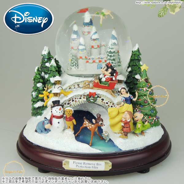 ディズニーの人気キャラクターが勢ぞろい ディズニー ミッキーとミニー達の雪のクリスマス スノードーム Disney 数量限定アウトレット最安価格 Musical 店内限界値引き中 セルフラッピング無料 With Snow Swirling Lights Snowglobe And