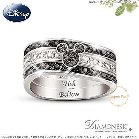 ディズニー ミッキーマウス 3連リング 指輪 Mickey Mouse
