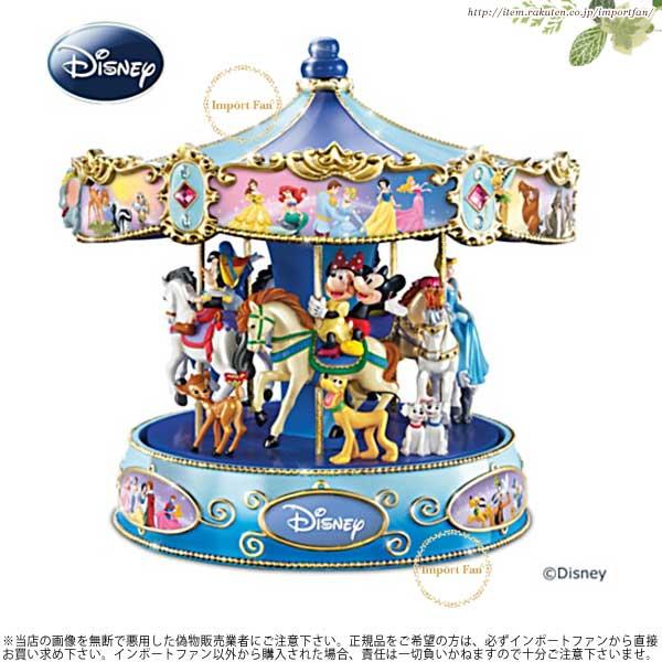 ワンダフルワールド ディズニー ミュージカル カルーセル ミッキーとミニーとディズニーの仲間たち メリーゴーランド Wonderful World Of Disney Musical Rotating Carousel □