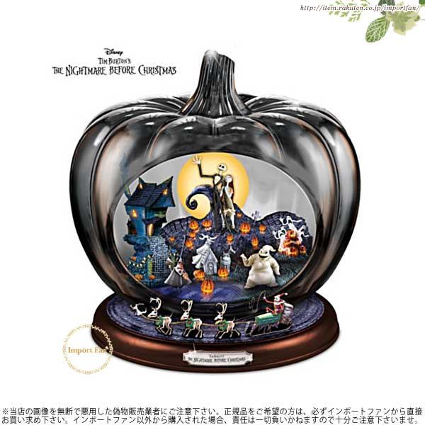 ディズニー ナイトメアー ビフォア クリスマス イルミネーション ガラス パンプキン The Nightmare Before Christmas Illuminated Glass Pumpkin jack and sally 【ポイント最大44倍!お買い物マラソン セール】