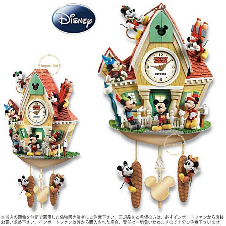 ミッキーマウス 壁時計 鳩時計 ディズニー 122176001 Disney Mickey Mouse Through The Years Wall Clock □