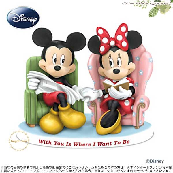 """ハミルトン・コレクション ディズニー ミッキー&ミニー 甘い瞬間 フィギュア Mickey And Minnie """"With You Is Where I Want To Be 【ポイント最大43倍!お買い物マラソン セール】"""