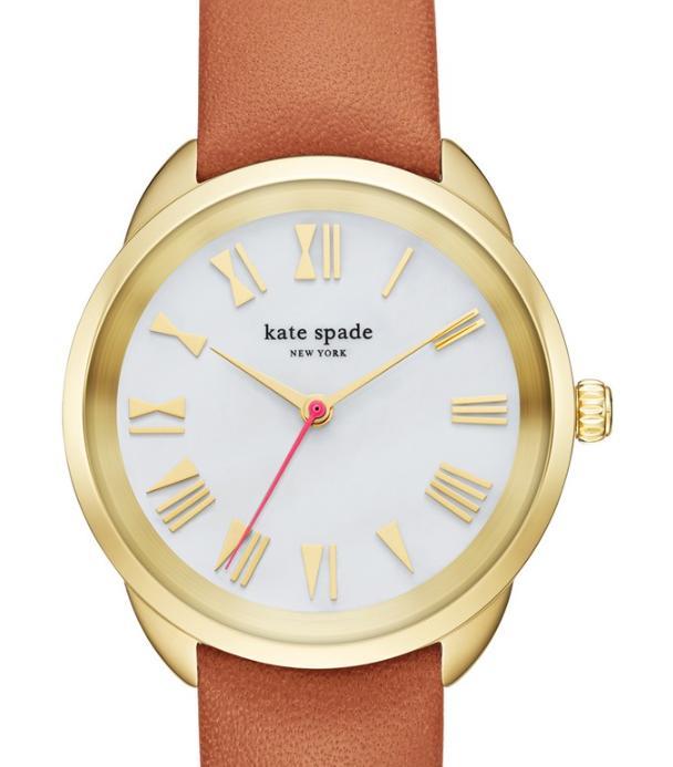 Kate Spade ケイトスペード クロスタウン レザー ストラップ ウォッチ 腕時計 crosstown leather strap watch 34mm 正規品 □