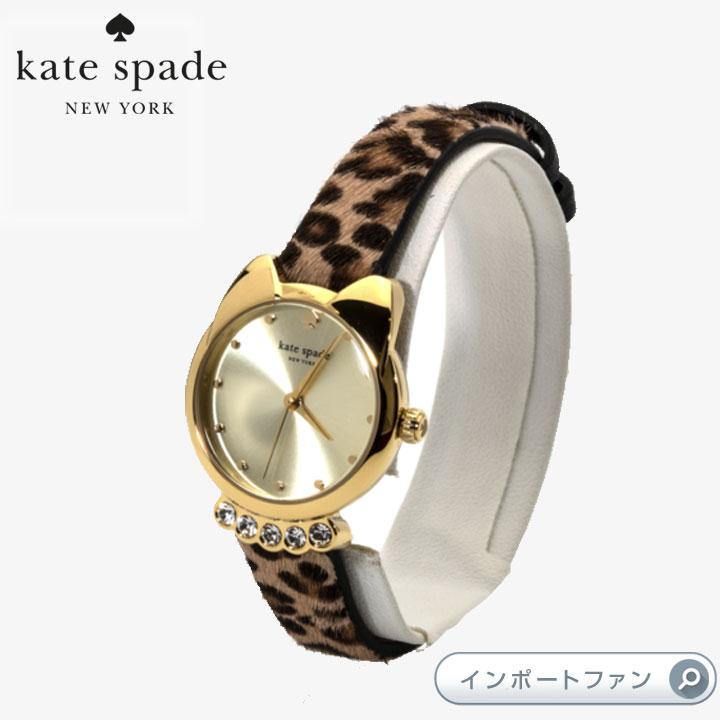 Kate Spade ケイトスペード キャット ミニ メトロ レオパード ストラップ ウォッチ 腕時計 Cat Mini Metro Leopard Strap Watch 正規品【ポイント最大43倍!お買物マラソン】