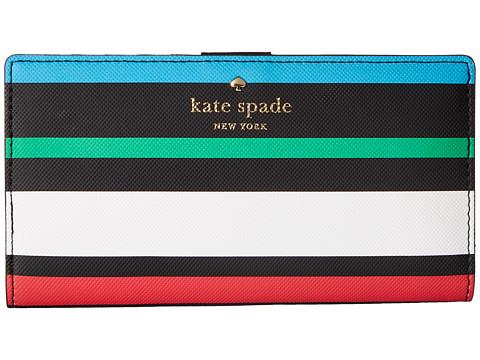 Kate Spade ケイトスペード ハーディング ストリート フィエスタ ストライプ ステイシー 長財布 Harding Street Fiesta Stripe Stacy 増税前ラスト!スーパーセール