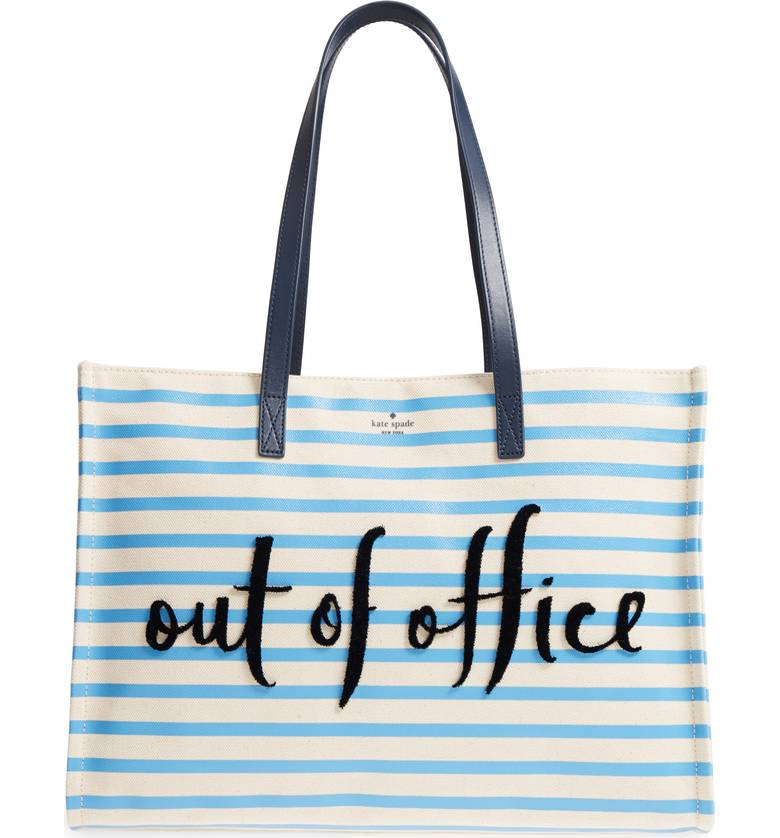 Kate Spade ケイトスペード カリフォルニア ドリーミング アウト オブ オフィス キャンバス トートバッグ California Dreaming Out Of Office Canvas Tote □
