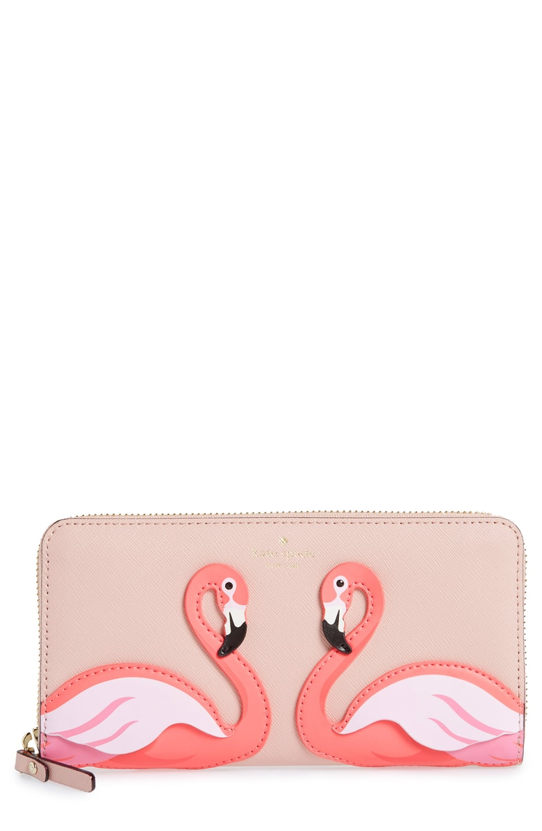 Kate Spade ケイトスペード バイ ザ プール フラミンゴ レイシー 長財布 By The Pool Flamingo Lacey □