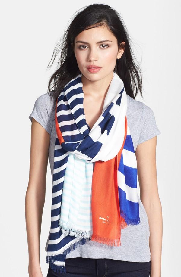 Kate Spade ケイトスペード モナコ ストライプ スカーフ monaco stripe scarf 正規品 【ポイント最大43倍!お買物マラソン】