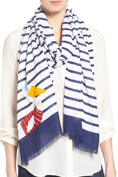 Kate Spade ケイトスペード パ―シ― オン オブロング スカーフ percy on stripe oblong scarf 正規品【ポイント最大43倍!お買物マラソン】