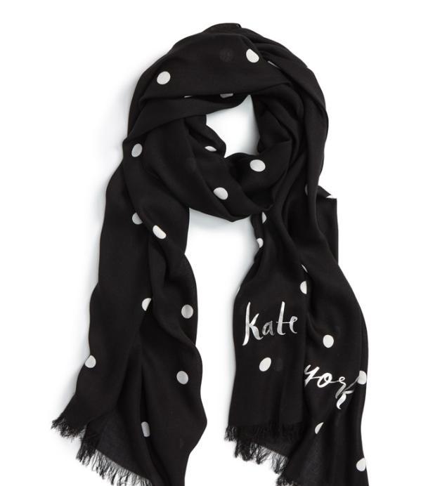 Kate Spade ケイトスペード セレブレーション ポルカ ドット スカーフcelebration polka dot scarf 正規品 【ポイント最大43倍!お買物マラソン】