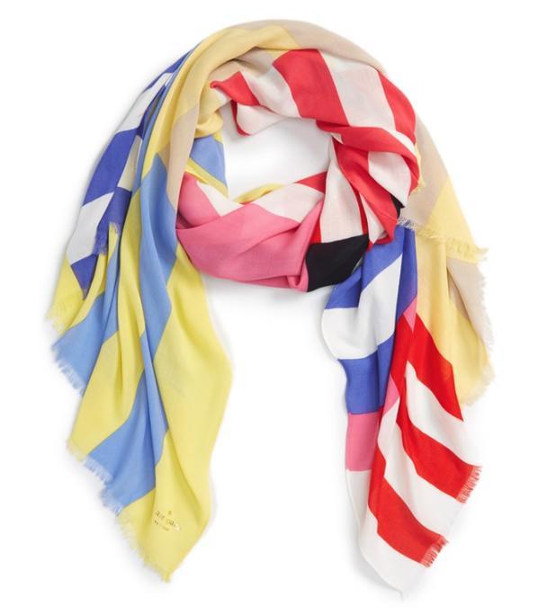 Kate Spade ケイトスペード ストライプ スカーフstripe scarf 正規品 【ポイント最大43倍!お買物マラソン】