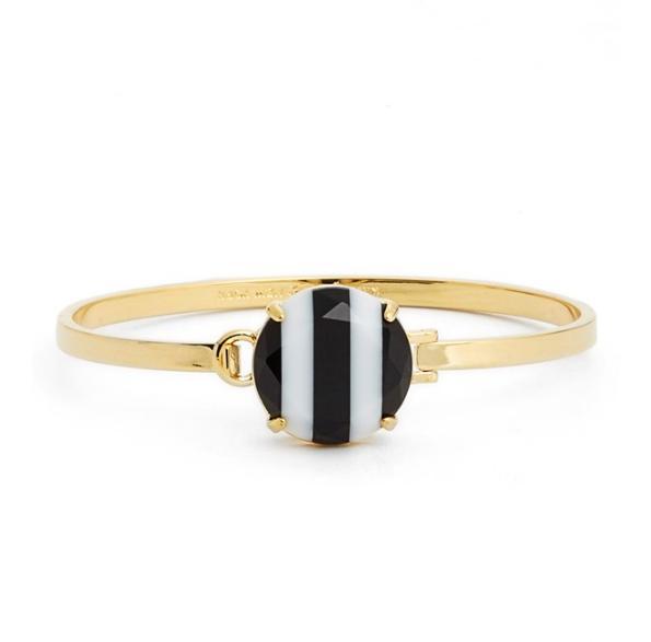 Kate Spade ケイトスペード ライト ストライプ バングルthe right stripe bangle bracelet 正規品 □
