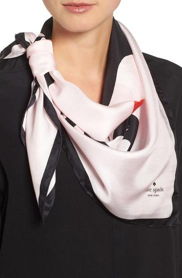 Kate Spade ケイトスペード マスクエレード スクエアー シルク スカーフ masquerade square silk scarf 正規品【ポイント最大43倍!お買物マラソン】