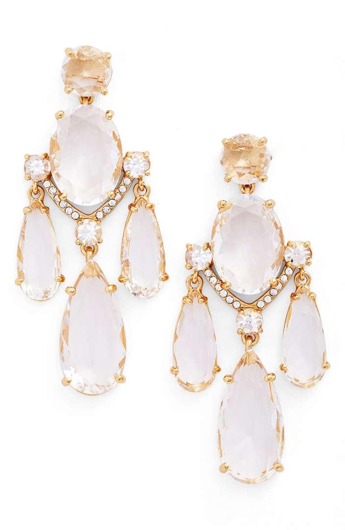 Kate Spade ケイトスペード クリスタル シャンデリア ピアス Crystal Chandelier Earrings 正規品□