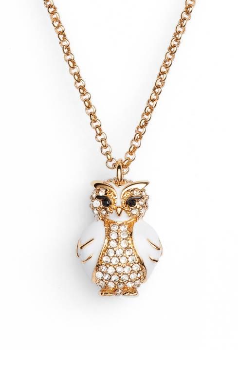 【マラソン限定2%オフクーポン】Kate Spade ケイトスペード スター ブライト オウル ミニ ペンダント ネックレス Star Bright Owl Mini Pendant 正規品 □