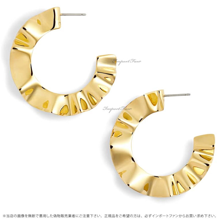 Kate Spade ケイトスペード フリル トゥ ピース フープ ピアス Frilled To Pieces Hoops □ukiOXPZT