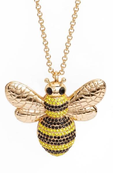 Kate Spade ケイトスペード ピクニック パーフェクト パヴェ ビー ペンダント ネックレス Picnic Perfect Pave Bee Pendant 【ポイント最大43倍!お買物マラソン】