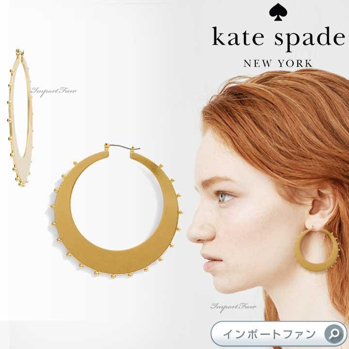 Kate Spade ケイトスペード ゴールド スタンダード スタッド フープ ピアス Gold Standard Studded Hoops□
