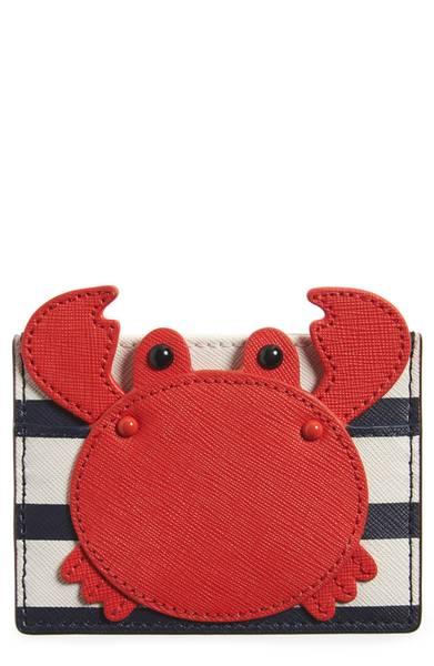 Kate Spade ケイトスペード ショア シング クラブ アップリケ カードホルダー Shore Thing Crab Applique Card Holder □