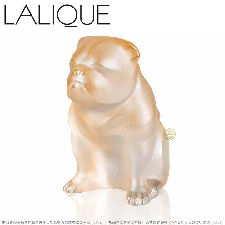 ラリック 犬 ブルドッグ ゴールドラスター 10601100 Lalique Bulldog Sculpture Gold Luster 【ポイント最大44倍!お買い物マラソン セール】