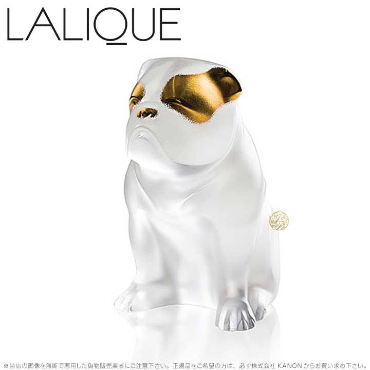ラリック 犬 ブルドッグ クリア&ゴールドラスター 10601200 Lalique Bulldog Sculpture Clear and Gold Luster 【ポイント最大42倍!お買物マラソン】