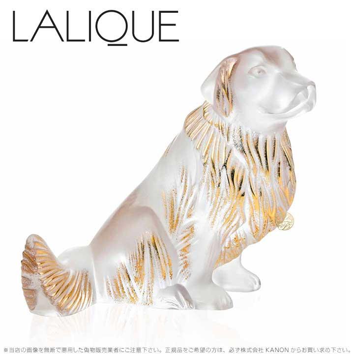 ラリック 犬 ゴールデンレトリバー クリア&ゴールドラスター 10601300 Lalique Golden Retriever Sculpture, Clear and Gold Luster 【ポイント最大43倍!お買物マラソン】