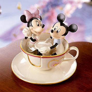 レノックス LENOX ミッキー&フレンズ Mickey's Teacup Twirl Sculpture ミッキー&ミニーのティーカップ 096942 □
