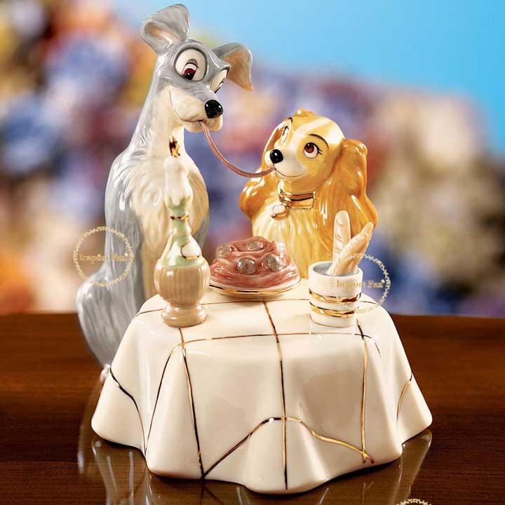レノックス  LENOX トランプとレディのスパゲッティディナー ディズニー わんわん物語 Spaghetti Dinner LADY and the TRAMP □