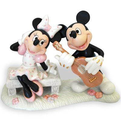 レノックス ミッキー ミニー 恋人 セレナーデ ギター LENOX Mickey's Sweetheart Serenade ミッキーマウス&ミニーマス 6405583 □