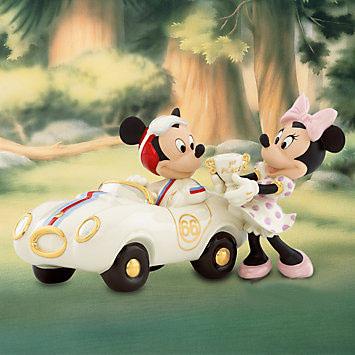 レノックス ミッキー&ミニー 優勝トロフィー 車 LENOX Winner's Circle With Mickey ミッキー&ミニー 812831 □