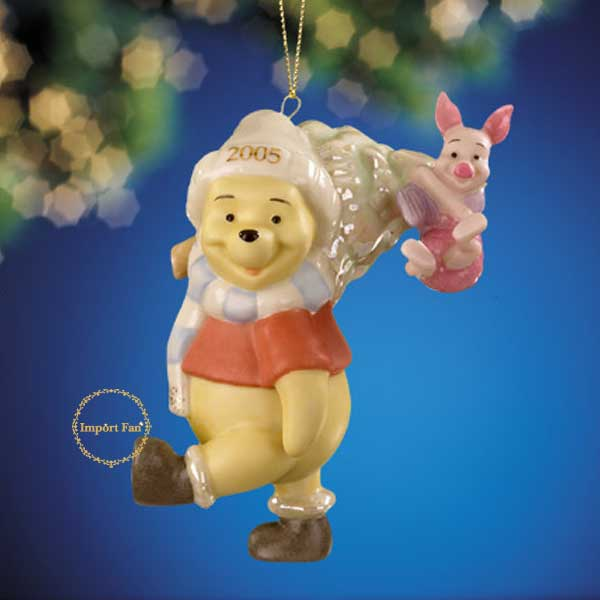 レノックス  LENOX 2005年度限定 クリスマスオーナメント ピグレットとくまのプーさん A Pooh Sort of Christmas 6360614 【ポイント最大43倍!お買物マラソン】