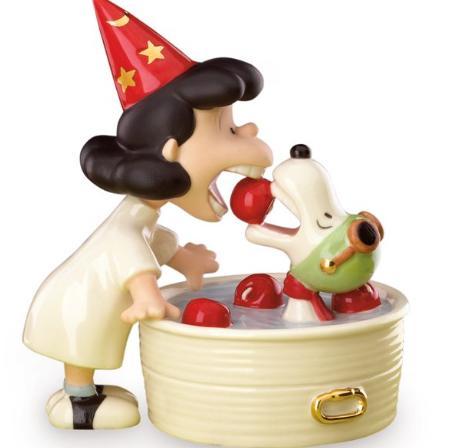 レノックス スヌーピーとルーシー ルーシーのサプライズ りんご 819284 LUCY'S Surprise Figurine LENOX 【ポイント最大43倍!お買物マラソン】