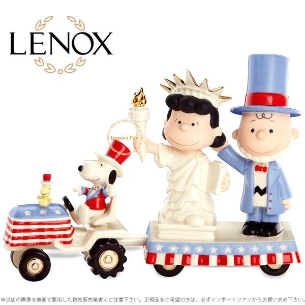 レノックス スヌーピー チャーリーブラウン 独立記念日 820463a LENOX PEANUTS CHARLIE BROWN Independence Day with □