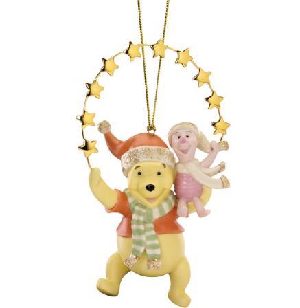 レノックス 星に手を伸ばすプーさんとピグレット サンタクロース クリスマス オーナメント くまのプーさん ディズニー 825250 Disney's Pooh Reaching for the Stars Ornament LENOX □