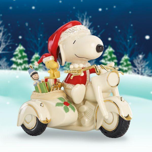 レノックス サンタ スヌーピー オートバイ クリスマス 827938a LENOX PEANUTS SNOOPY on a Motorcycle 【ポイント最大42倍!お買物マラソン】