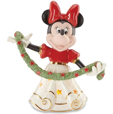 レノックス ミニーマウス メリーミニ― 飾り クリスマス ディズニー 853572 Disney s Merry Minnie Lighted Figurine LENOX 【ポイント最大43倍!お買物マラソン】