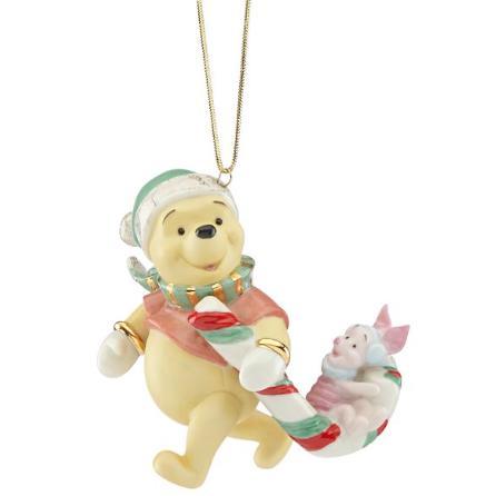 レノックス サンタプーさんとピグレット キャンディの杖サプライズ クリスマス オーナメント くまのプーさん ディズニー 854316 Disney's Winnie the Pooh Candy Cane Surprise Ornament LENOX □