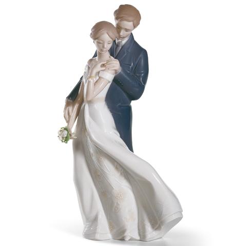 リヤドロ 幸せのはじまり 01008274 LLADRO 結婚祝い ブライダル □