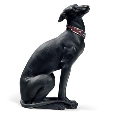 リヤドロ 賢いグレイハウンド Black LLADRO 01008605 犬 【ポイント最大43倍!お買物マラソン】