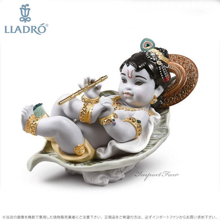 リヤドロ 葉の上のクリシュナ 01009370 LLADRO Krishna on Leaf 【ポイント最大44倍!お買い物マラソン セール】