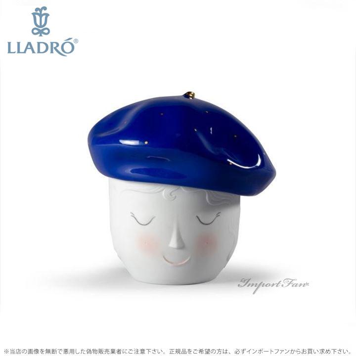 リヤドロ レイン ベレー ボックス ブルーゴールド 01009386 LLADRO Lane Beret Box. Blue-Gold