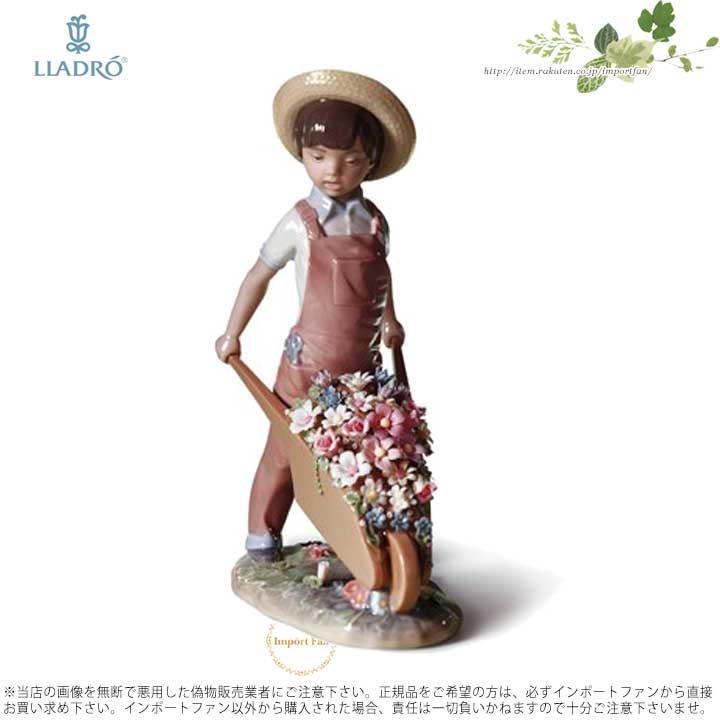 リヤドロ 花車を押す少年 01001283 LLADRO WHEELBARROW WITH FLOWERS 【ポイント最大42倍!お買物マラソン】