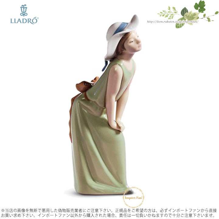 リヤドロ 麦わら帽子をかぶった好奇心旺盛な女の子 1005009 LLADRO CURIOUS GIRL WITH STRAW HAT 【ポイント最大43倍!お買物マラソン】
